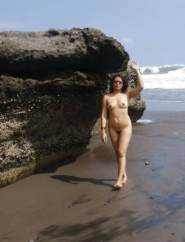 Above Nude indian women in beaches
