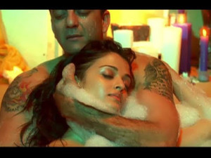 Aishwarya Rai and Sanjay sexy bath photo