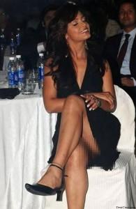 Neetu Chandra showing her back