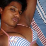 indian Bhabhi Naked selfie On Bed Showing bra