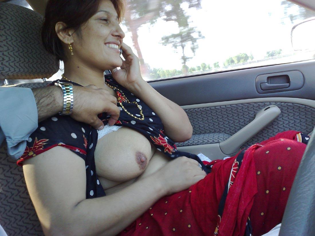 Car and girl and sex boobs And