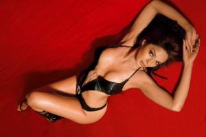 bikini model malika sherowat in black bikini