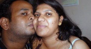 desi indian village couple kissing photo