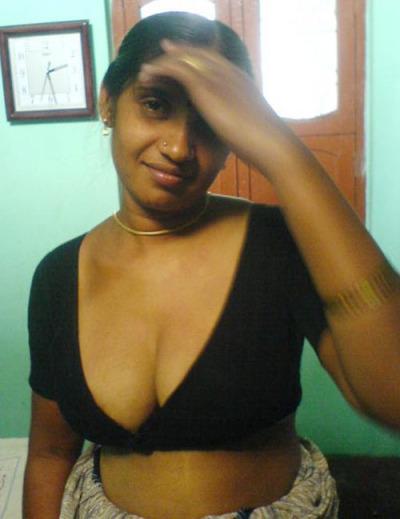 Nude girl in skirt bent over