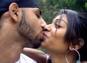 indian couple hot kissing