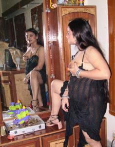 busty babe wearing lingerie