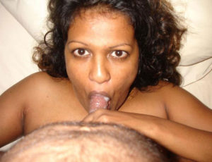 indian hottie sucking cock