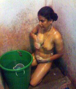nude teen taking bath