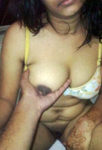 devar holding big nipple bhabhi