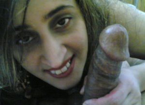 indian babe holding dick