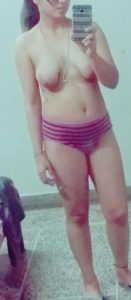 taking selfie naked boobs