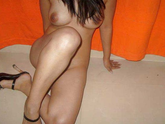 Naked desi the with heels remarkable, this very
