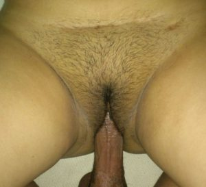 Desi Indian Aunty hot cock in hairy pussy