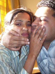 Desi Indian Couple sexy kissing