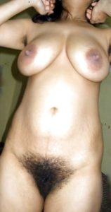 Amateur Aunty huge tits hairy cunt nude