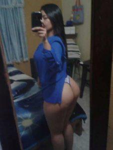 Desi Aunty big round ass selfie