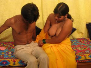 Desi Aunty stripping nude big boobs