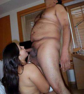 Desi Couple hot cock sucking