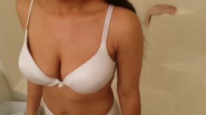 desi chick removing white bra