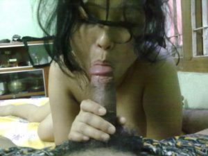 Desi Couple hard cock blowjob pic