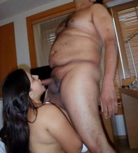 Desi Couple hot cock sucking pic