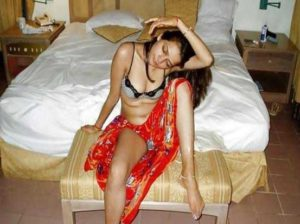 Desi Girl horny on bed pic