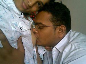 desi couple sucking boobs