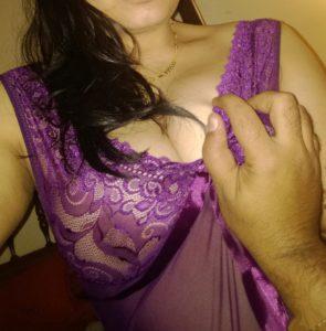 desi gf squeezing round boobs