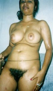 hairy pussy indian hottie nude bath photograph