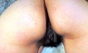 Hairy bush ass