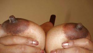 Big boobs dark nipple