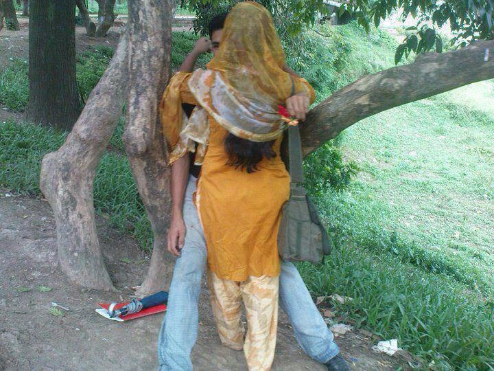 village girl kissing